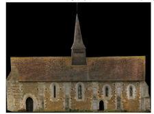 Plan ortho-photo sur Autocad de l'Eglise de Vitotel par Caroline Thibault Architecte grâce à la photogrammétrie