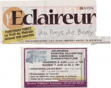 Annonce journée portes ouvertes agence Caroline Thibault Architecte à Forges les Eaux dans la presse locale