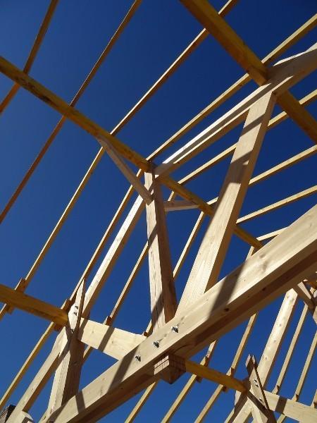Montage de l'ossature bois et de la charpente Rouen 76