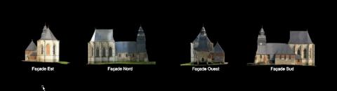 Ortho-photos plans grâce à la photogrammétrei drone Caroline Thibault Architecte