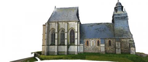 Photogrammétrie numérisation par drone Caroline Thibault Architecte