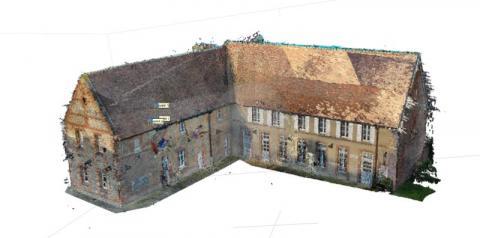 Modélisation numérique 3D par drone photogrammétrie de bâtiments et terrains