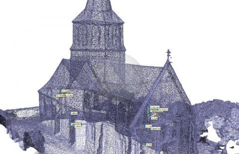 Modèle MESH Modèle 3D numérique par drone photogrammétrie par le cabinet C.T.A (Caroline THIBAULT Architecte)