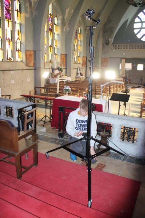Relevé numérique intérieur photogrammétrie Drones de l'Eglise de Brancourt en Laonnois par le Cabinet C.T.A Caroline Thibault Architecte