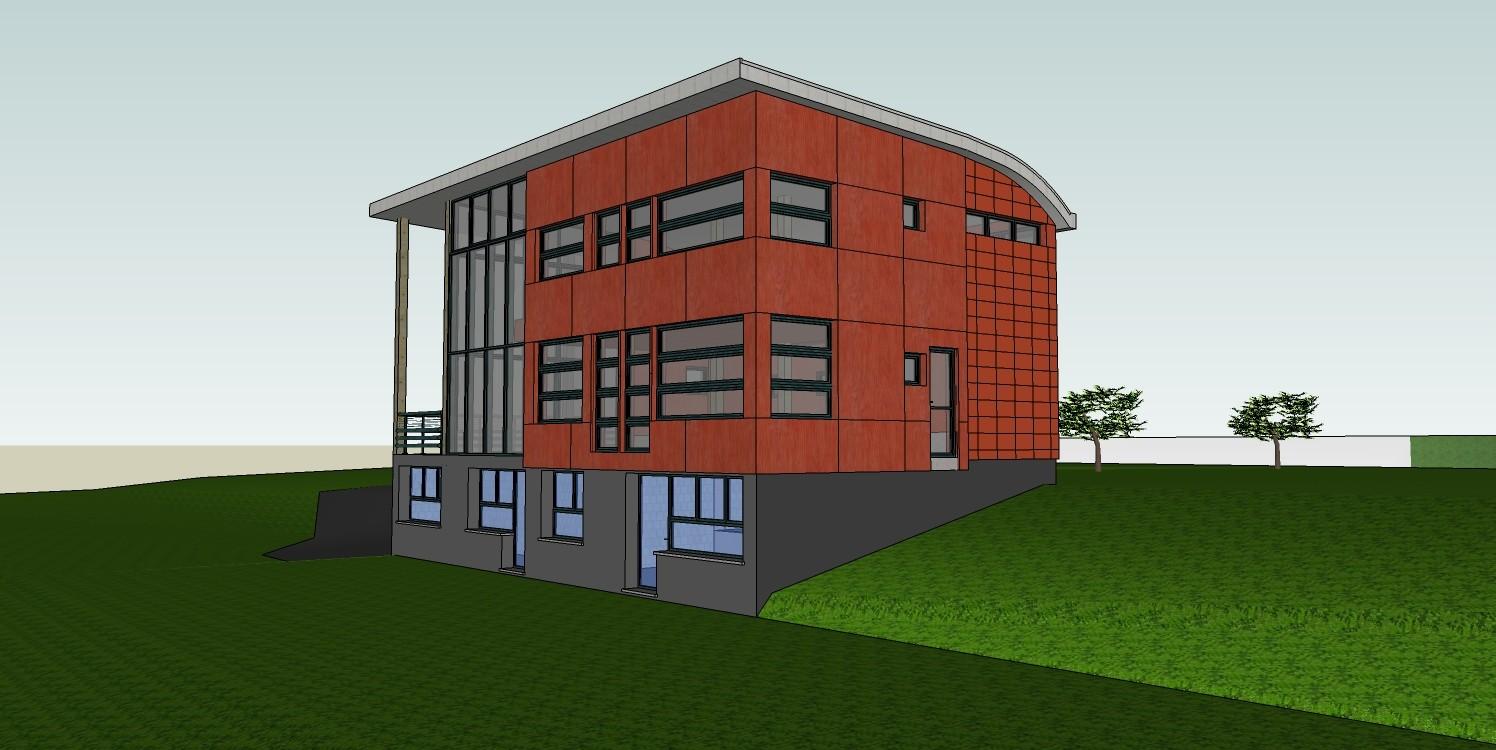 Construction d 39 une maison contemporaine d 39 architecte for Construction maison sans terrain