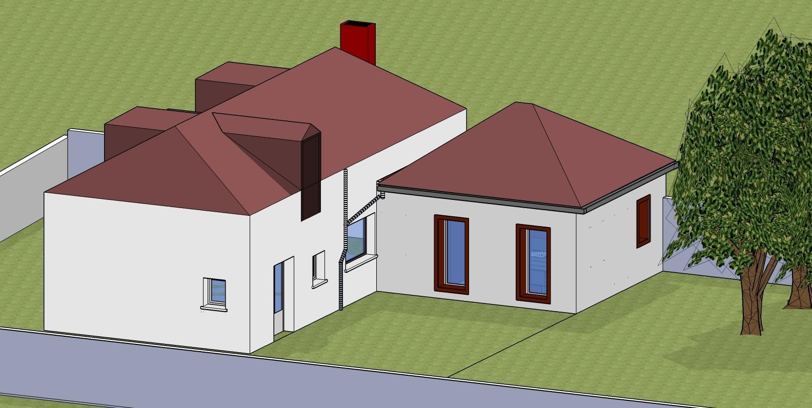 Extension d 39 une maison individuelle logement evreux le for Construire une maison individuelle