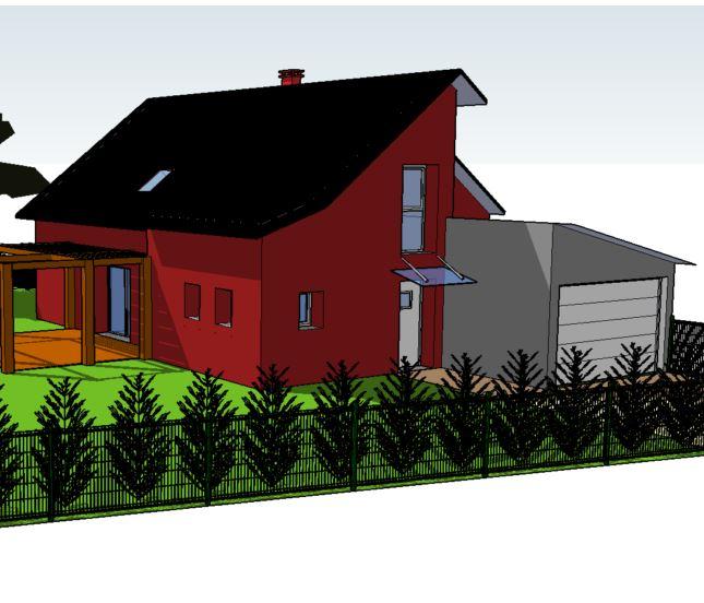 Construction de deux maisons individuelles jumelles for Construction de maisons individuelles