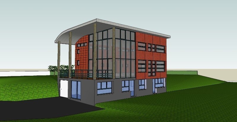 Visite virtuelle d 39 une maison d 39 architecte roncherolles for Une architecte