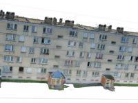 Relevé numérique par drone photogrammétrie d'un immeuble H.L.M à Beauvais