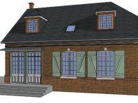 Surélévation avec changement de la pente d'une nouvelle charpente sur une maison
