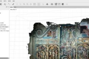Numérisation du retable par photogrammétrie de l'Église d'Epreuville en Lieuvin