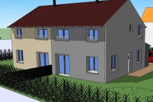 Maisons jumelées locatives pour une commune de l'Eure