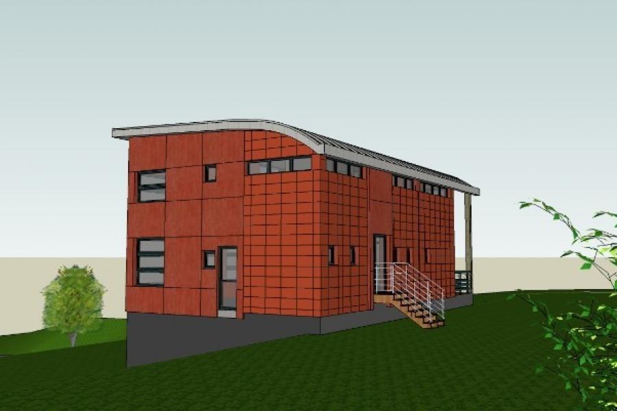 Visite virtuelle d'une maison d'architecte à Roncherolles en Bray (FORGES LES EAUX 76440).