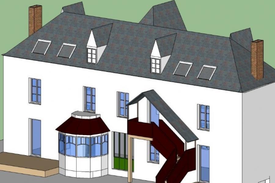Projet de transformation d'une grande maison familiale en 4 logements dans l'Oise