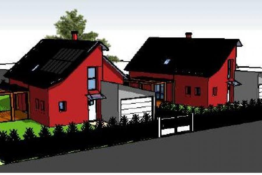 Construction de deux maisons jumelées par Caroline THIBAULT ARCHITECTE
