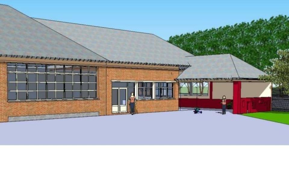 Création d'un préau et réfection de la couverture de la garderie de l'école communale de Sainte Croix sur Buchy (76750)